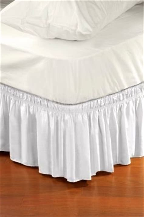 wrap around style easy fit elastic bed ruffles for king and size beds whi ebay