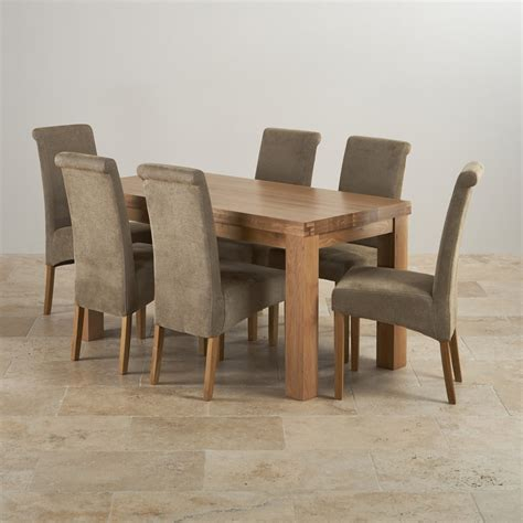 Chunky Solid Oak Dining Table And 6 Chairs Contemporary 5ft Dining Table In Solid Oak 6 Scroll Back Chairs