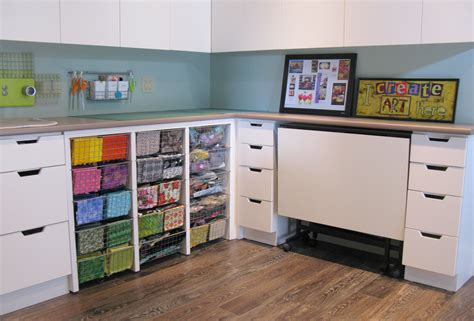 How To Organize Kitchen Cabinets Martha Stewart Creative Craft Table With Storage And Room Organization