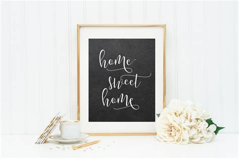 home sweet home entry way wall calligraphy print