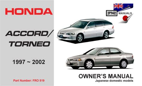 honda accord torneo 1997 2002 car owners manual
