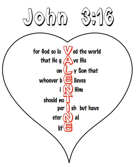 religious valentine coloring page john 3 16 valentine coloring page coloring pages