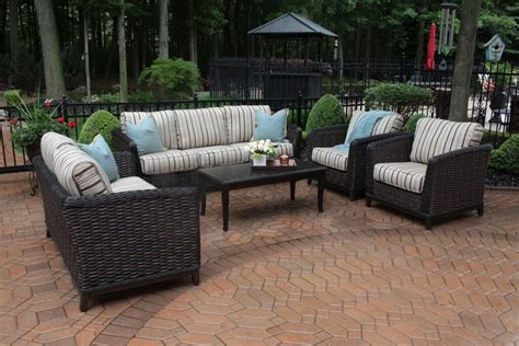all weather wicker recliner outdoor furniture collections porch furniture sets black