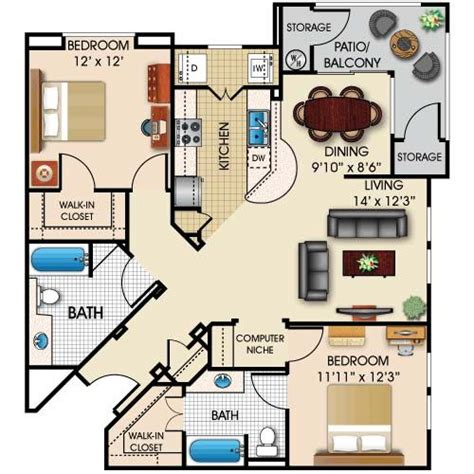 2 bedroom house plans in cottage ideas