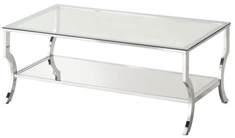 chrome and tempered glass coffee table from coaster