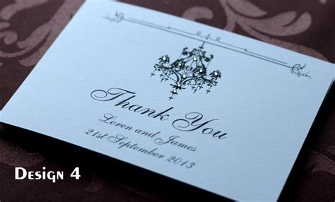 Handmade Wedding Thank You Cards - sle of handmade personalised wedding thank you cards
