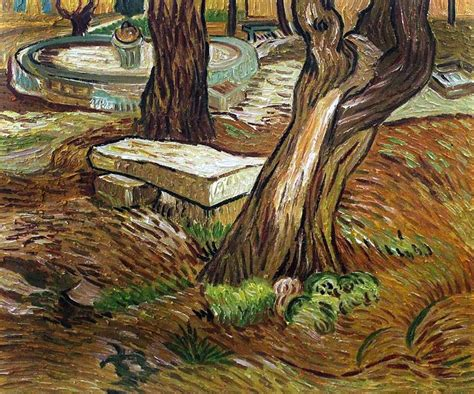 the vincent van gogh 030022284x the bench at saint remy van gogh art reproduction vincent van gogh van gogh oil painting