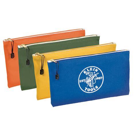 canvas zipper tool bag canvas bag 4 pk olive orange blue yellow 5140 klein