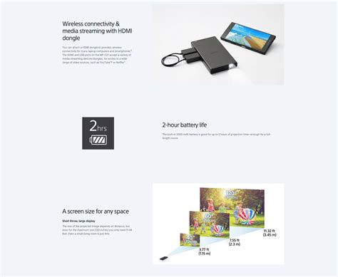 Bright Light Projector - sony mp cd1 mobile projector bright light pocket size