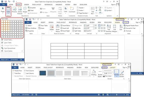 grid layout microsoft word how to add columns in word table