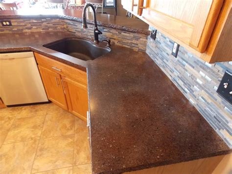 concrete resurfacing staining countertop refinishing