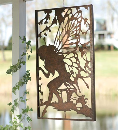 backyard wall art windweather metal fairy wall art metal garden wall art