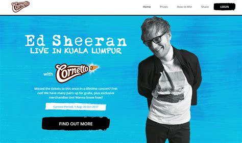 ed sheeran kuala lumpur my a blog ed sheeran live in kuala lumpur with cornetto