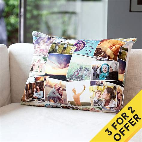 Collage Photo Pillow by Photo Cushions Uk Print Personalised Pillows Using