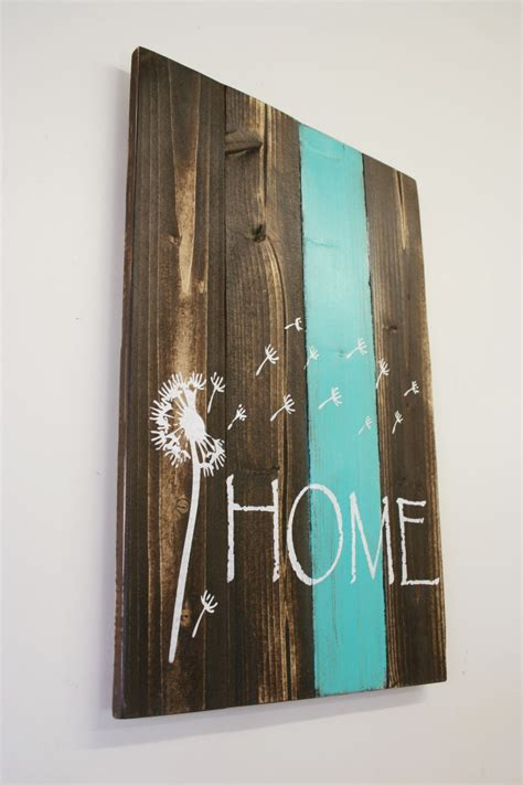 rustic country home decor home pallet sign dandelion sign rustic home decor country home