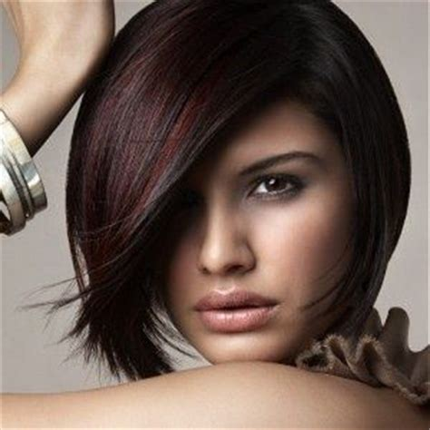 cute burgundy highlights cute cut with burgundy highlights on dark brown hair