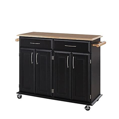rolling kitchen island cart home styles dolly kitchen rolling island cart bed bath beyond