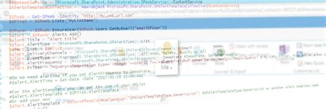 sharepoint site template codes create sharepoint alerts by code