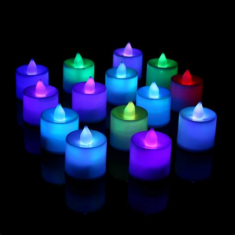 Battery Powered Flameless Led Candle Flickering Tea Light 24 X Flameless Led Candles Flickering Tea Lights Battery Operated Wedding Home Ebay