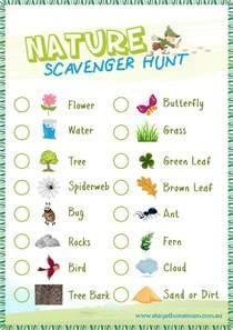 scavenger hunt checklist template nature scavenger hunt free printable stay at home