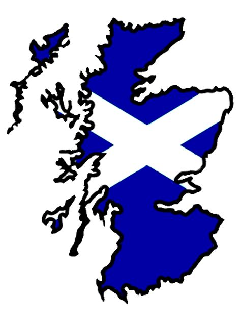 Scottish Outline by Scotland Flag Map Big Free Images At Clker Vector Clip Royalty Free