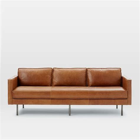 Axel Leather Sofa Elm