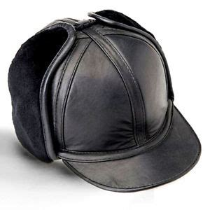 men's winter warm leather truck drives caps hats outdoor