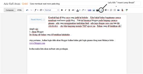 cara membuat readmore blogspot cara membuat read more pada blog aziz rafi anas