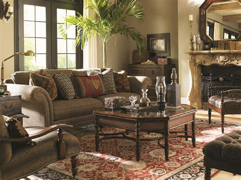 bahama living room furniture bahama home landara 7719 33 southport sofa with turned wood legs and casters baer s