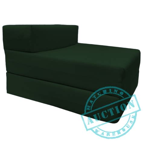 Foam Folding Chair Bed Green Single Fold Out Foam Z Bed Sofabed Guest Chair Bed Folding Mattress Futon Ebay