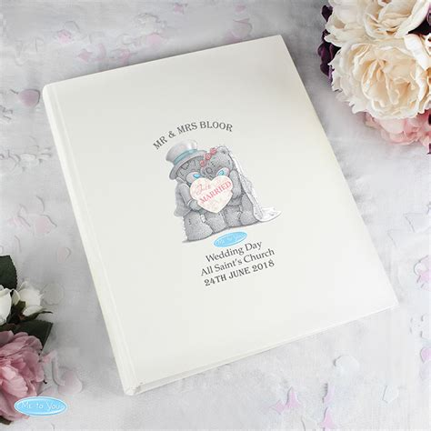 personalised wedding album uk personalised me to you wedding album my gifts