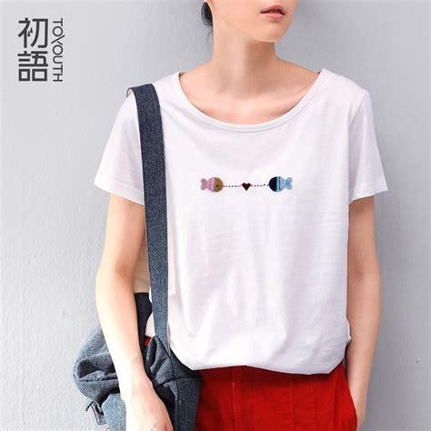 simple pattern shirt aliexpress com buy toyouth 2016 women summer simple t