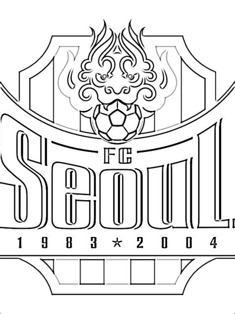coloring book korea emblem of fc seoul coloring page coloring pages