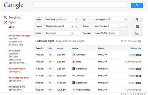 launches flight search with a feature rivals lack sep 13 2011