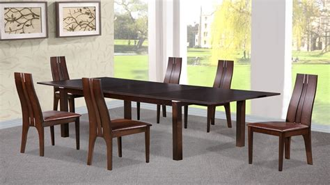walnut dining table and chairs dining table and 6 chairs in beechwood dark walnut