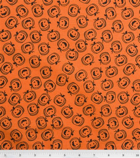 Outline Textiles by Spooky Prints Fabric Outline Pumpkins At Joann