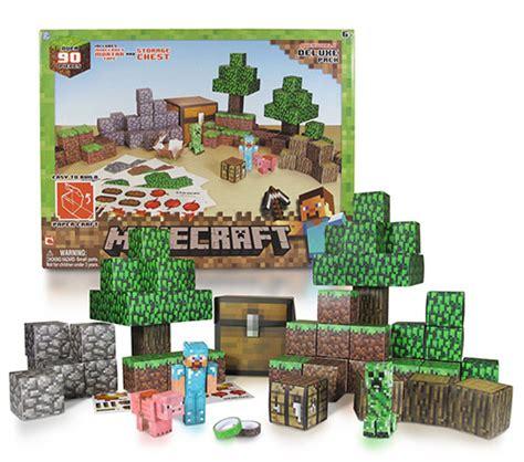 Minecraft Deluxe Papercraft - acheter minecraft construction papier 90 pieces