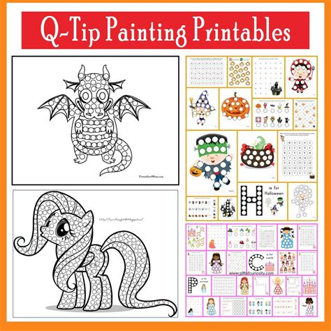 Q Tip Coloring Pages by Q Tip Painting Templates And Do A Dot Printables