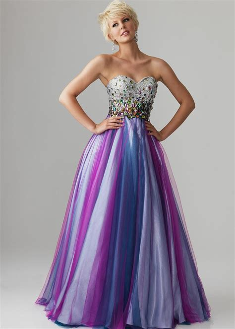 colored dress multi colored prom dresses dress yp