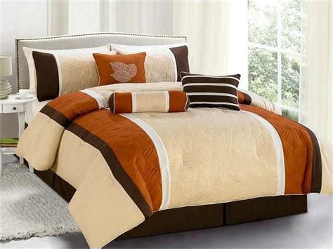orange full comforter burnt orange comforter set 8229
