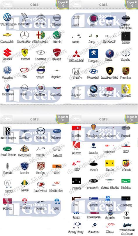 Auto Logo Quiz Level 6 by Ultimate Logo Quiz Level 20 Cars Doors Geek