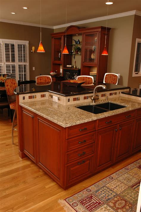 Pre Made Kitchen Islands With Seating by Exceptional Two Tier Kitchen Island Plans With Undermount