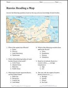 russia free printable map worksheet student handouts