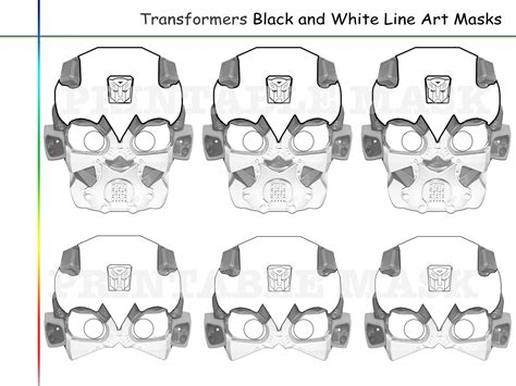 printable bee mask template coloring pages transformers party holidaypartystar