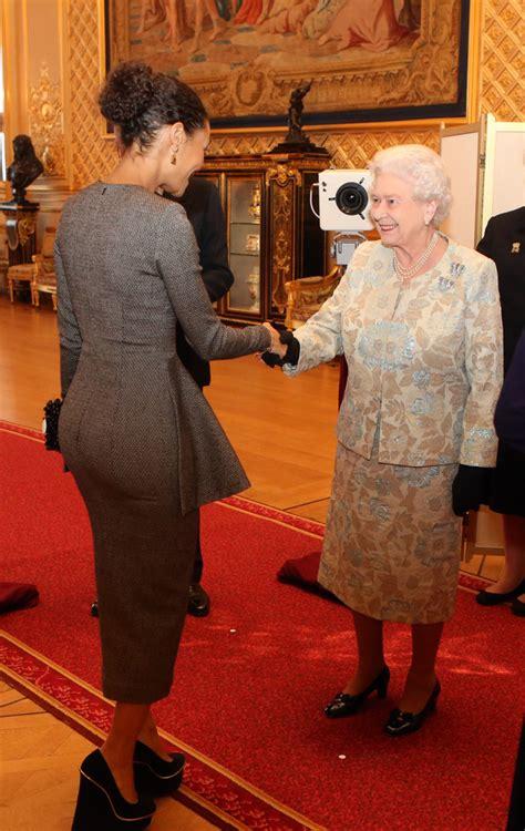 film queen elizabeth ii queen elizabeth ii meets thandie newton reception for