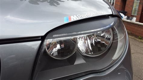 Bmw 1 Series E87 Headlights by Bmw 1 Series Lci Style Carbon Vinyl Headlight Eyebrow