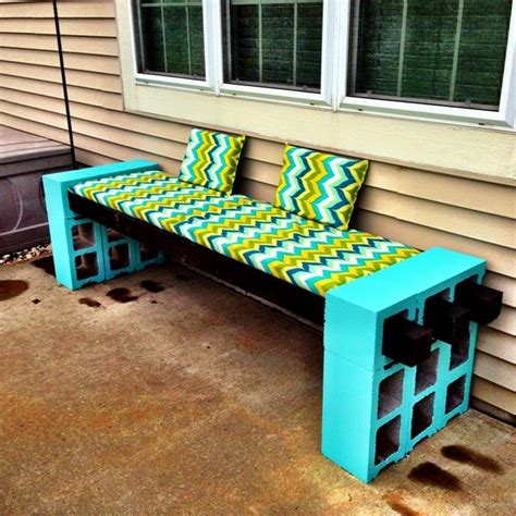 patio block bench diy cinder block bench in the garden creative ideas for