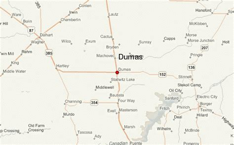 dumas texas map dumas texas location guide