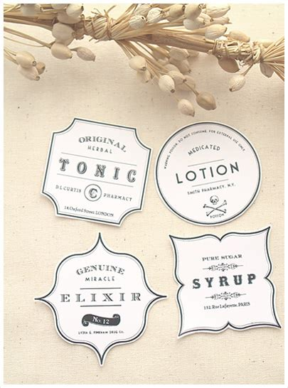 antique labels template vintage apothecary label template free