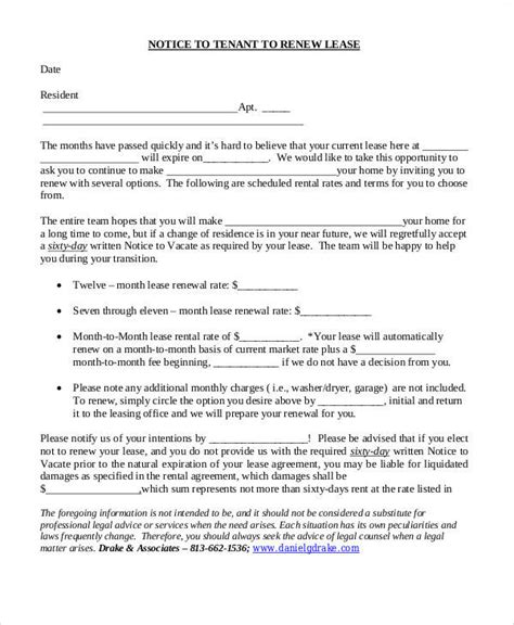 Lease Renewal Letter To Owner 37 sle termination letters